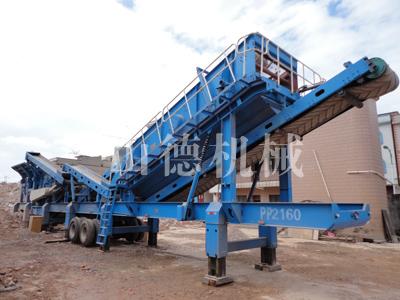 一帆机械建筑垃圾处理设备助力云南旧城区改造